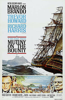 Poster Painting - Mutiny On The Bounty by MotionAge Designs
