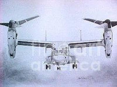 Iraq Drawing - Mv-22 Osprey by Stephen Roberson