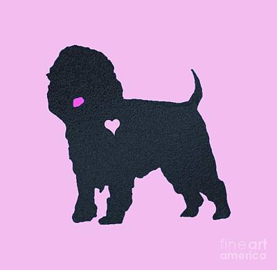 Affenpinscher Drawing - My Affenpinscher Heart Belongs To You by L Shepard