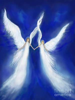 Painting - My Angels Above by Leslie Allen
