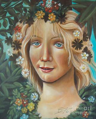 Woman Painting - My Botticelli by Susi Galloway