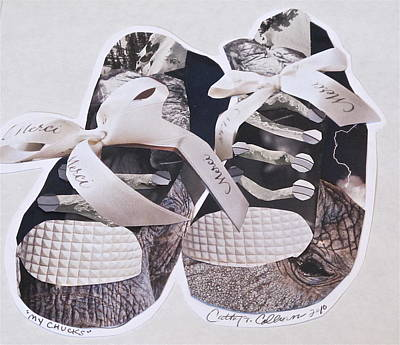 Sneakers Mixed Media - My Chucks by Cathy Colborn