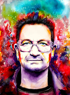 Bono Mixed Media - My Colors For Bono by Isabel Salvador