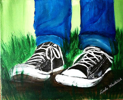 My Converse Shoes Original by Linda Waidelich