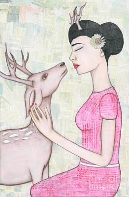 Deer Painting - My Deer by Natalie Briney