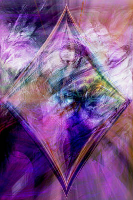 Energy Art Movement Digital Art - My Diamond by Linda Sannuti