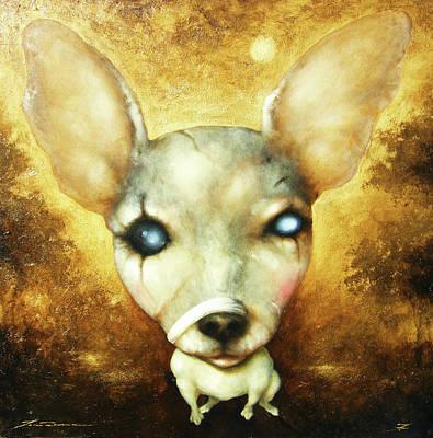Quadri Painting - My Doggy Dog by Lorenzo Fontana ALBAURA
