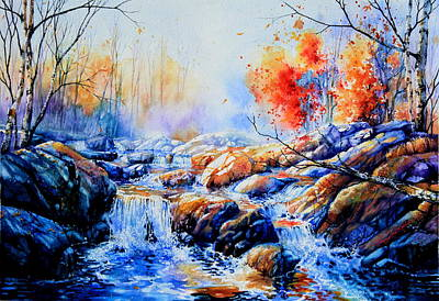 Autumn Landscape Painting - My Elusive Dreams by Hanne Lore Koehler