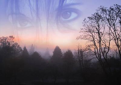 My Emotive Landscape - Self Portrait Print by Jaeda DeWalt