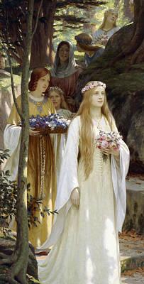 Wedding Bouquet Painting - My Fair Lady by Edmund Blair Leighton