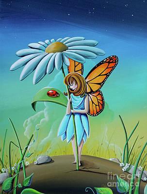Ladybug Painting - My Fair Lady #fairy by Cindy Thornton