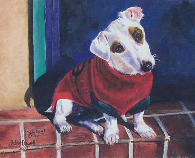 My Festive Red Sweater Print by Bobbie Deuell