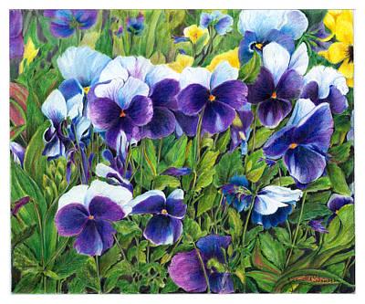 My Field Of Flowers Print by Jeanette Schumacher