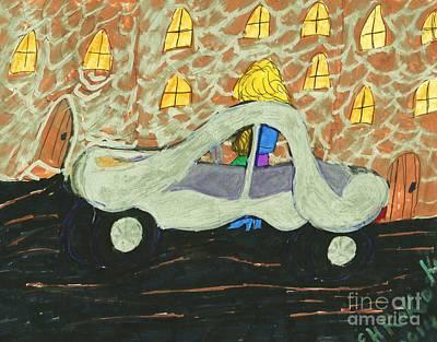 My Friends New Car Original by Elinor Rakowski