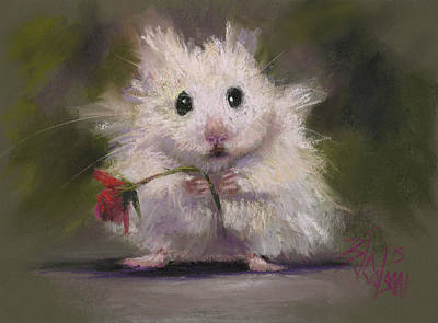 Gerbil Painting - My Gift To You by Billie Colson