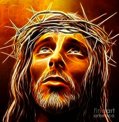 Jesus The King Mixed Media - My God  Why Have You Abandoned Me by Pamela Johnson