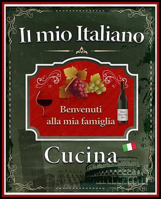 My Italian Kitchen Print by Frederick Kenney