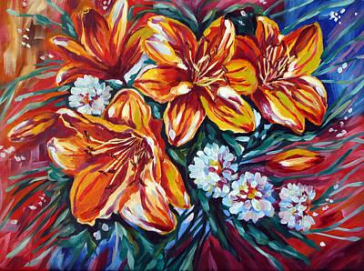 Spirit Catcher Painting - My Lilies by Katreen Queen