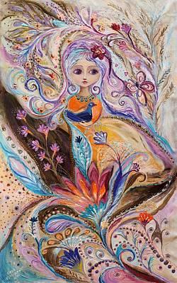 Zodiac Painting - My Little Fairy Olivia by Elena Kotliarker