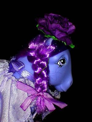 My Little Pony Blossom Anniversary Profile Print by Donatella Muggianu