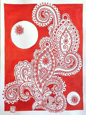 Paisley Drawing - My Name Is Red by John Parish