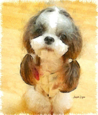 Dog Digital Art - My Nice Pet - Da by Leonardo Digenio