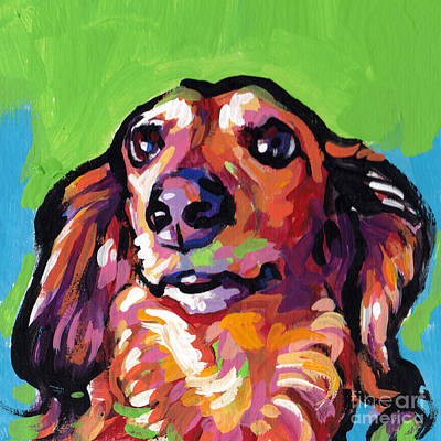 Dachshund Painting - My Nose Knows by Lea S