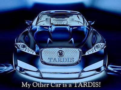 Tardis Digital Art - My Other Car by Digital Art Cafe