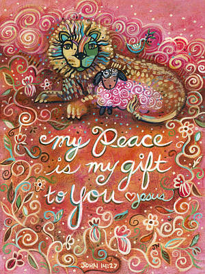 My Peace Is My Gift Print by Jen Norton