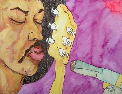 Purple Haze My Prayer Is In My Play Print by Rand Swift