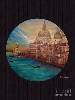 My Recollection Of Venice In The Round II Original by Kimberlee Baxter
