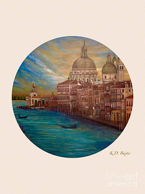 My Recollection Of Venice In The Round Original by Kimberlee Baxter