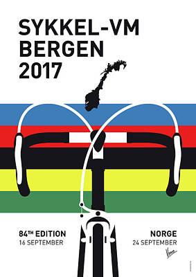 My Road World Championships Minimal Poster 2017 Print by Chungkong Art