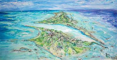 Painting - My Secret Island  by Mary Sedici