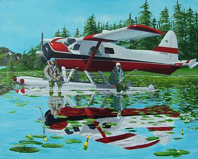 Float Plane Painting - My Secret Spot by Gene Ritchhart
