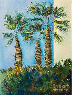 Painting - My Street, Three Trees by Chana Helen Rosenberg
