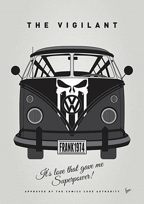 My Superhero-vw-t1-punisher Print by Chungkong Art