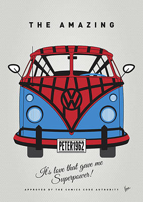 Batman Digital Art - My Superhero-vw-t1-spiderman by Chungkong Art