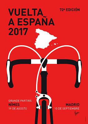 My Vuelta A Espana Minimal Poster 2017 Print by Chungkong Art