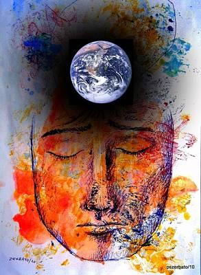 My World Print by Paulo Zerbato
