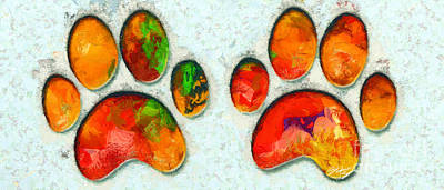 My Cat Paw Print by Stefano Senise