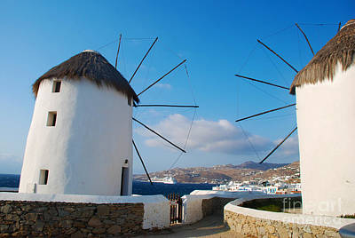 Europe Photograph - Mykonos Island View Between Windmills by Just Eclectic