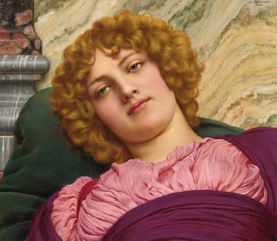 John William Godward Painting - Myrhinna by John William Godward