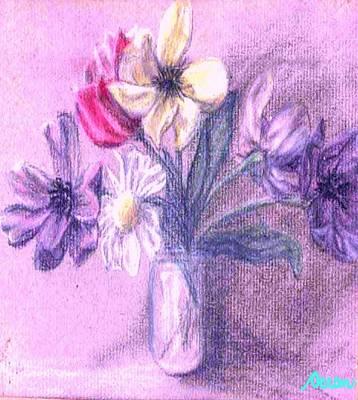 Pastel - Myriad Floral In Jar by Ocean
