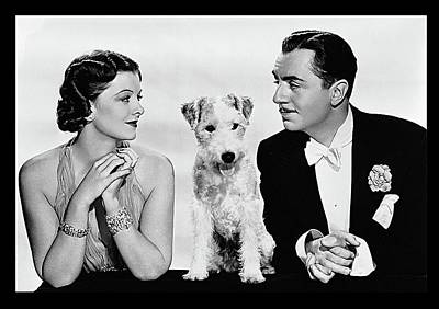 Myrna Loy Asta William Powell Publicity Photo The Thin Man 1936 Print by David Lee Guss