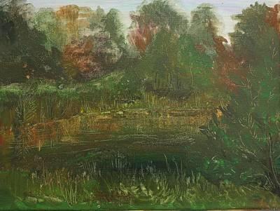 Schizzo Painting - Mysteries Of The River Smolka Schizzo by Marina Vasilenko