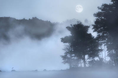 After The Storm Photograph - Mysterious Moon by Bill Wakeley