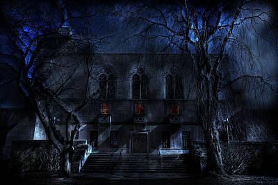 Scary Digital Art - Mysterious Zembo Shrine by Shelley Neff