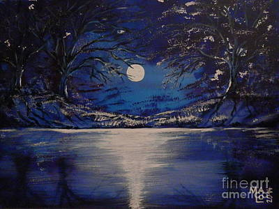 Inner World Painting - Mystery At Moonlight 1 Series by Mario Lorenz