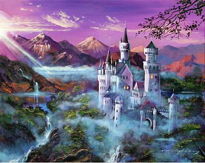 Mystery Castle Print by David Lloyd Glover